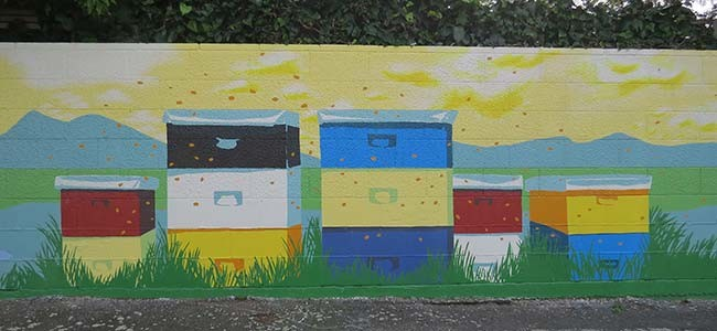 Bee Friendly Mural Blenheim