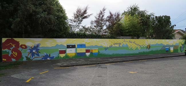 Bee Friendly Mural - Artist Kylie Fleur